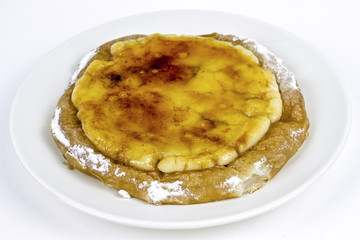 ensaimada de Mallorca with Catalan custard