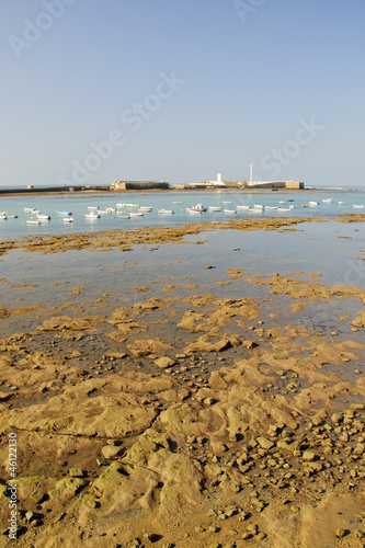 Low tide in the bay of Cadiz