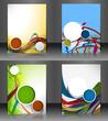 Set of presentation of flyer design content background.