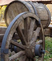 Wheel of peasant carts