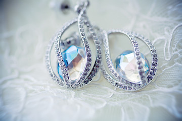 swarovski rystals. earrings