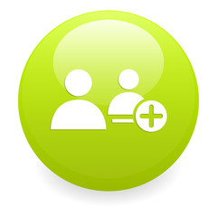 bouton internet contact icon green