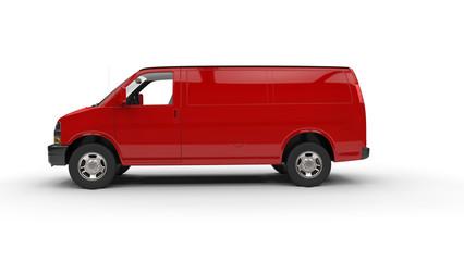 Red Van Side View