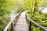Fototapety Wooden pathway - Plitvice lakes, Croatia