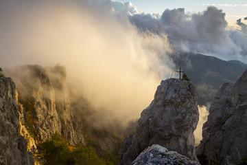 Sunrise on Mount Ai-Petri, Crimea, Ukraine