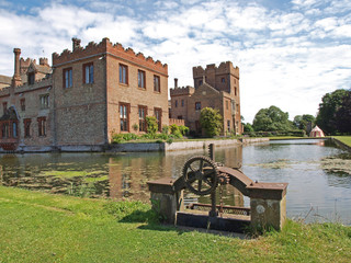 Oxburgh Hall, a moated country house.