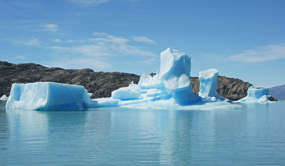 Eisberge, Lago Argentino, NP Los Glaciares, Argentinien