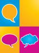 colorful speech bubbles poster