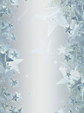 grey background with shining silver stars
