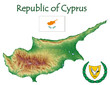 Cyprus national emblem map symbol motto
