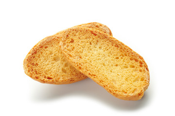 dried sliced ​​baguette