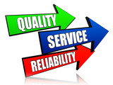 quality, service, reliability in arrows