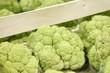 Green cauliflower in a supermarket