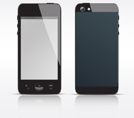Vector cell, mobile or smart phone, smartphone black