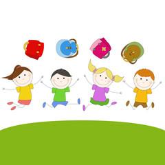 Children Jumping - Bambini che saltano felici