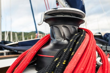 winch in sailboat