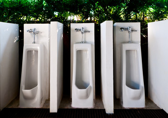 Urinals in male toilets