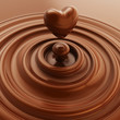 Obrazy na ścianę i fototapety : Heart symbol made of liquid chocolate