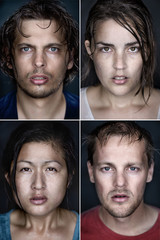 Multiracual portraits
