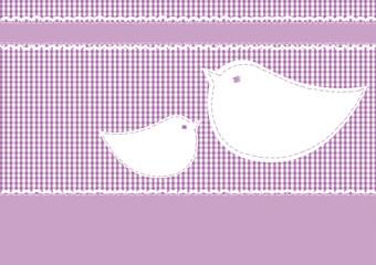 Postkarte Karo, Vogelpärchen
