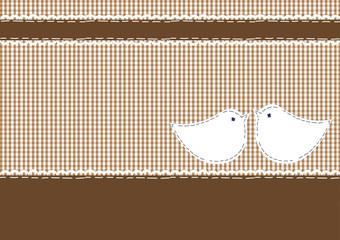 Postkarte Karo, Vogelpärchen Kuss