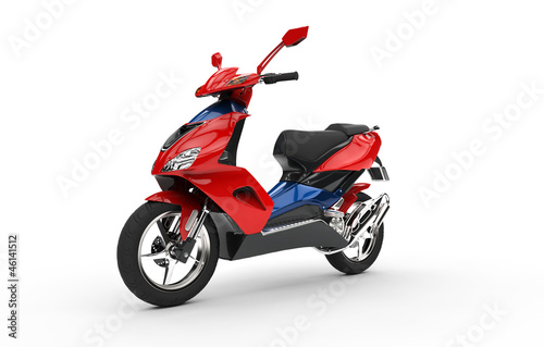 Foto op Canvas Motorfiets Red Scooter