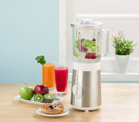 Juice blender machine in the kitchen
