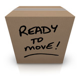 Ready to Move Cardboard Box Moving Relocation poster