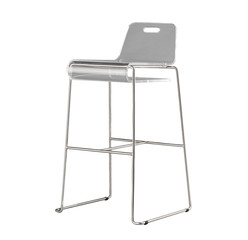 Modern design of tall acrylic stool chair