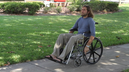 Paraplegic Veteran Wheelchair