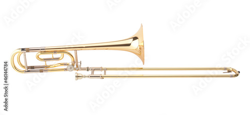 Leinwandbild Motiv The brass trombone