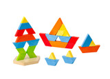Geometry wooden toy block for kids how to learn to create and im