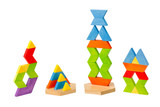 Colorful wooden toy blocks great for children to learning