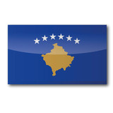 Flagge Kosovo poster