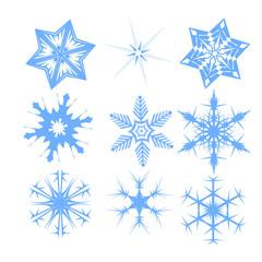 Snowflakes collection Vector