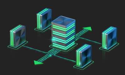 Computer networks. Main server sheme.