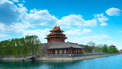 Forbidden City , Beijing, China Timelapse