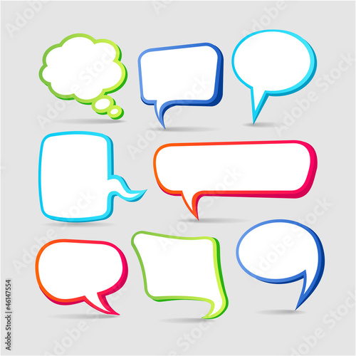 Speech Bubbles. Collection