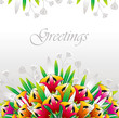 Vector flower greeting card