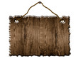altes Holz Schild braun aufgehangen