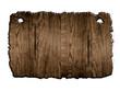 altes Holz Schild braun