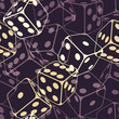 Dice seamless background pattern. Vector illustration (eps10).