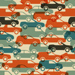 Seamless pattern with cars. Vector illustration (eps10).