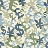 Abstract seamless pattern with money. Vector (eps10). - 46148343