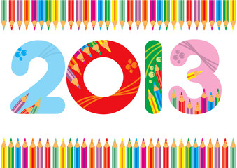 2013 bianco matite