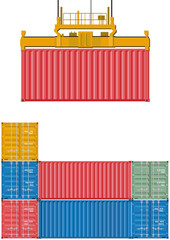 Container Verladung