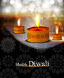 happy diwali diya bright shiny colorful background