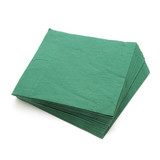 green napkins isolated on white background