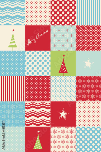 patchwork christmas card