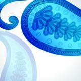 Paisley floral design background.